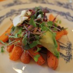 11. Roasted carrot and avocado salad.