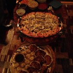 First round of appetizers