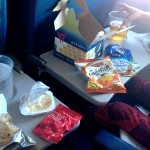 """Dinner"" on the plane, we forgot they don't feed you on domestic flights."