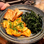 Ravioli and kale salad