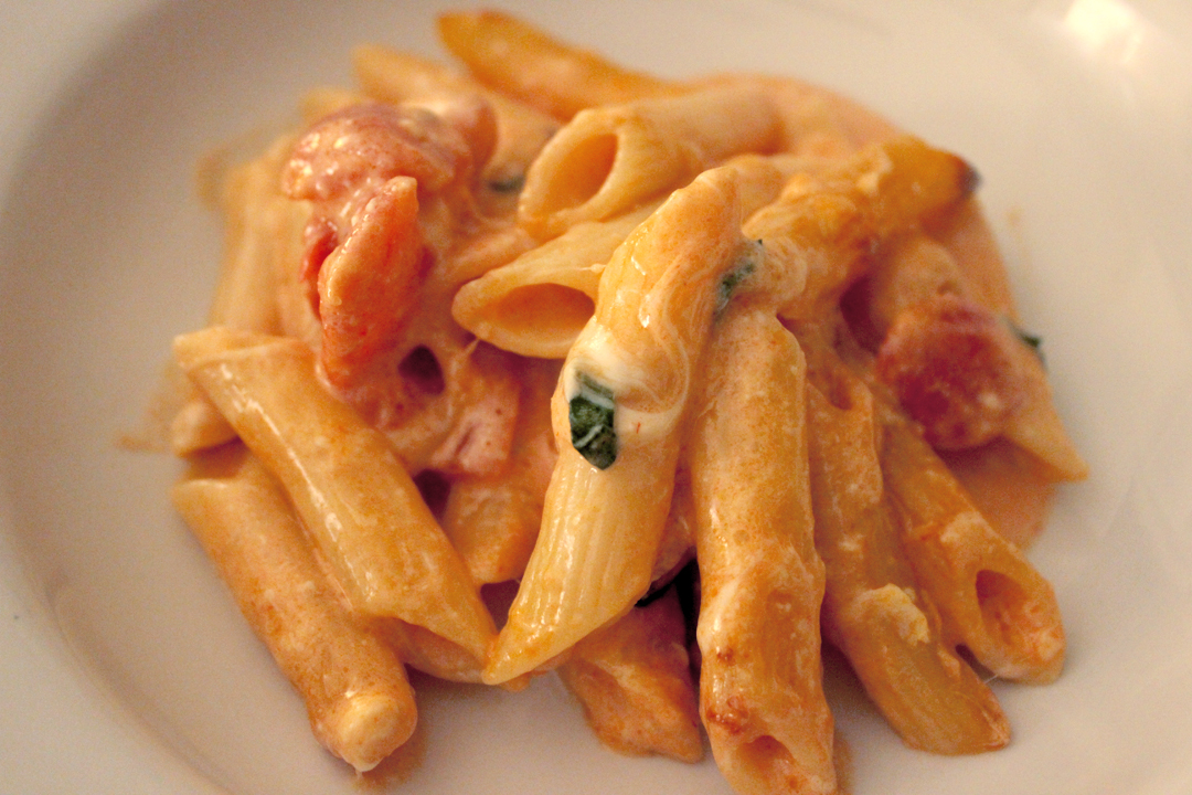 ... penne with tomato cream and 5 penne with tomato cream and five cheeses
