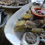 Local oysters that the kids and Drew caught